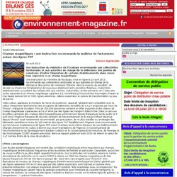 Sante-Urbanisme - Champs magnetiques : une instruction recommande la maitrise de l'urbanisme autour des lignes THT