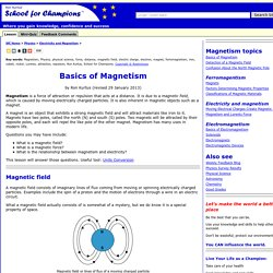 Basics of Magnetism by Ron Kurtus - Succeed in Understanding Physics: School for Champions