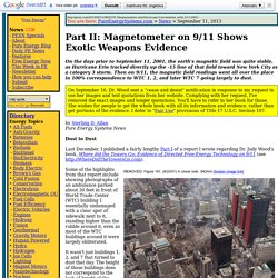 Magnetometer on 9/11 Shows Exotic Weapons Evidence