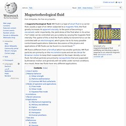 Magnetorheological fluid