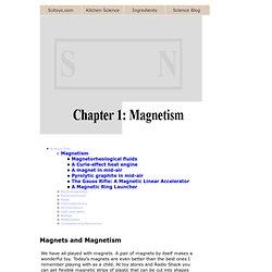 Chapter 1: Magnetism - Magnetorheological fluids, homemade ferrofluid