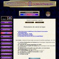 Formulaires de calcul en ligne