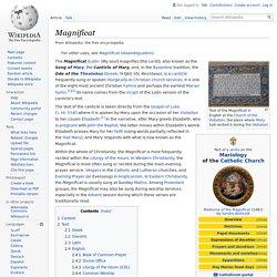 Magnificat - Wikipedia