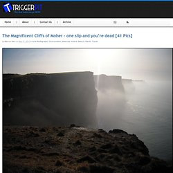 The Magnificent Cliffs of Moher - one slip and you're dead