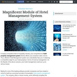 Magnificent Module of Hotel Management System