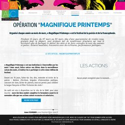 Magnifique Printemps 2019 - Poésie et francophonie