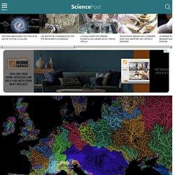 """Un géographe réalise de magnifiques cartes représentant les """"veines de la Terre"""""""