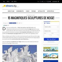 11 magnifiques sculptures de neige!