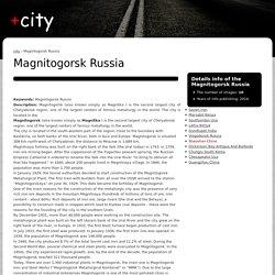Magnitogorsk Russia