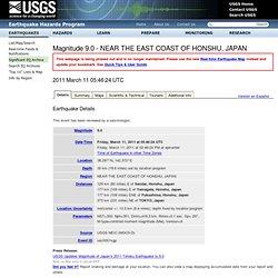 Magnitude 8.8 - NEAR THE EAST COAST OF HONSHU, JAPAN