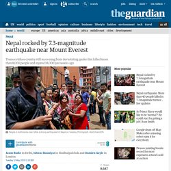Nepal hit by 7.3-magnitude earthquake near Mount Everest