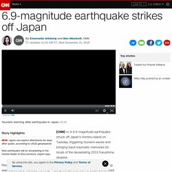 7.3-magnitude earthquake strikes off Japan