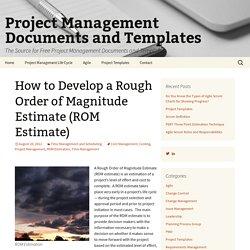 Development dellerz pearltrees how to develop a rough order of magnitude estimate rom estimate pronofoot35fo Gallery