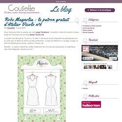 Robe Magnolia : le patron gratuit d'Atelier Vicolo nº6