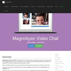 Video Chat PRO, HTML5/PHP video chat solution for online group chat, p2p file transfer and chat roulette