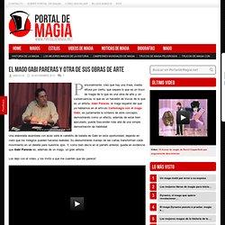El mago Gabi Pareras y otra de sus obras de arte