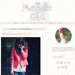 The Magpie Girl: daily outfit post