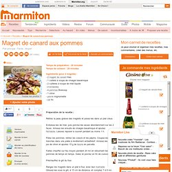Magret de canard aux pommes - Recette de cuisine Marmiton : une recette