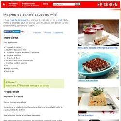 Magrets de canard sauce au miel