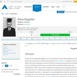 Rene Magritte Biography, Art, and Analysis of Works