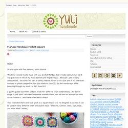 Mahala Mandala crochet square