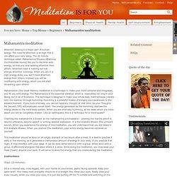 La méditation est pour vous