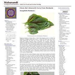 Chana Dal~Amaranth Curry from Nandyala