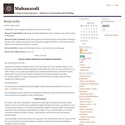 Mahanandi » Recipe Index