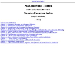 Mahanirvana Tantra Index - Waterfox