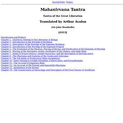 Mahanirvana Tantra Index - Waterfox