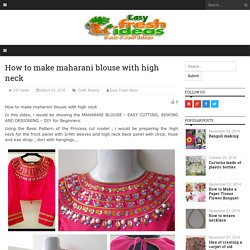 How to make maharani blouse with high neck