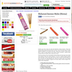 Maharani Incense Sticks (Heena)