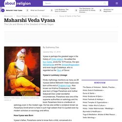 Maharshi Veda Vyasa: The Life and Works of Hindu Sages