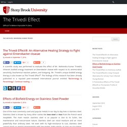 Read The Trivedi Effect Blogs at Stony Brook University