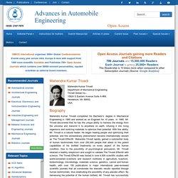 Mahendra Kumar Trivedi Public Profile – Omicsgroup.org