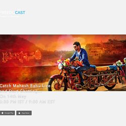 Mahesh Babu Live on Freedocast