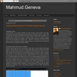 Mahmud.Geneva: Online Data