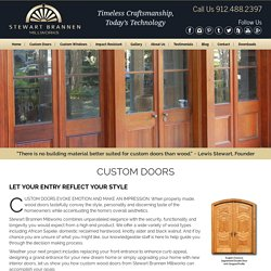 Custom Doors Charleston by Stewart Brannen Millworks