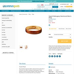 SAPELI MAHOGANY BENTWOOD MEN'S RING | unique menswear