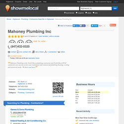 Mahoney Plumbing Inc