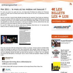 L'actu media web - Mai 2011 : le mois où les médias ont basculé ?