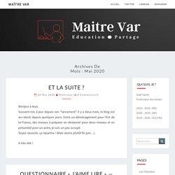mai 2020 – Maître Var