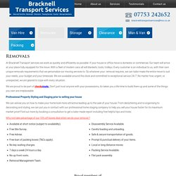 Bracknell Transport Services - Removals - Clearance - Deliveries