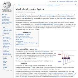 Maidenhead Locator System