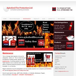 Find Best Fire Equipment Maintenance Services Aylesford