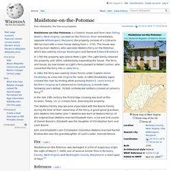 Maidstone-on-the-Potomac - Wikipedia