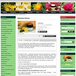 Zahnpulver Zitrone - Maienfelser Naturkosmetik