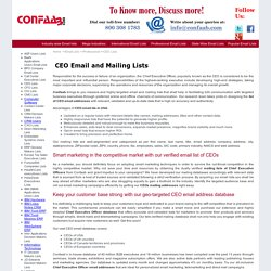 CEO e-mail address database