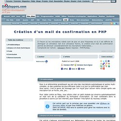 Mail de confirmation en PHP