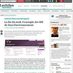 La fin du mail, l'exemple des RH de Suez Environnement